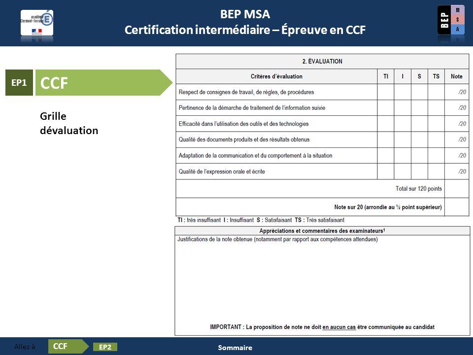 Certification en BEP MSA