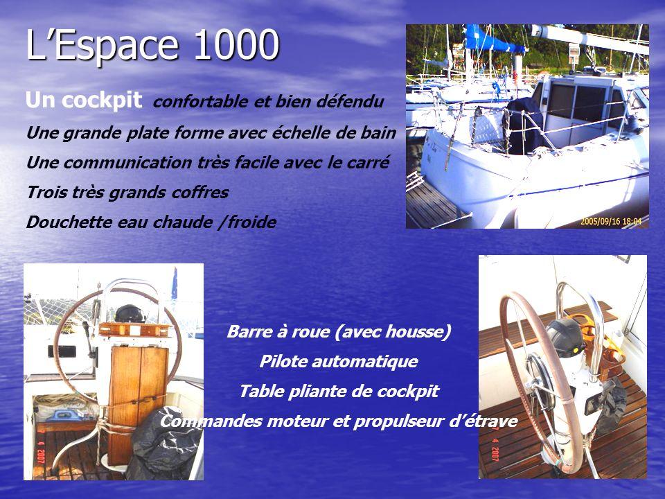 L'Espace 1000 Un cockpit confortable et bien défendu