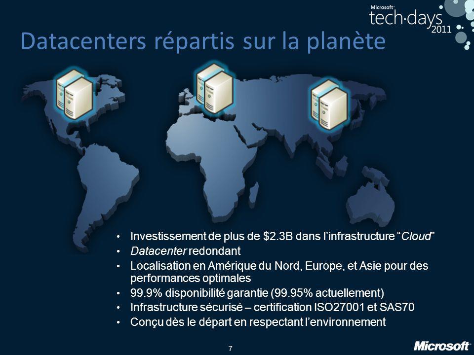 Datacenters répartis sur la planète