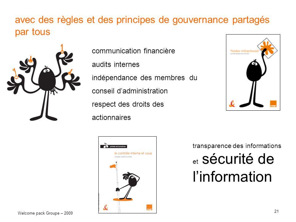 avec des règles et des principes de gouvernance partagés par tous