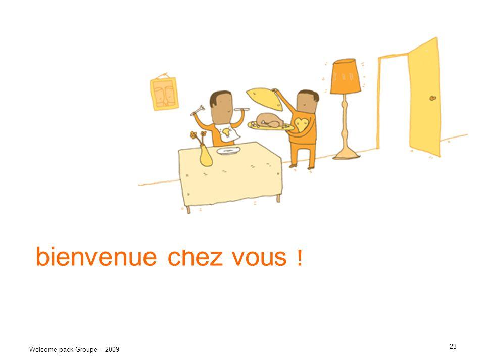 bienvenue chez vous ! Welcome pack Groupe – 2009