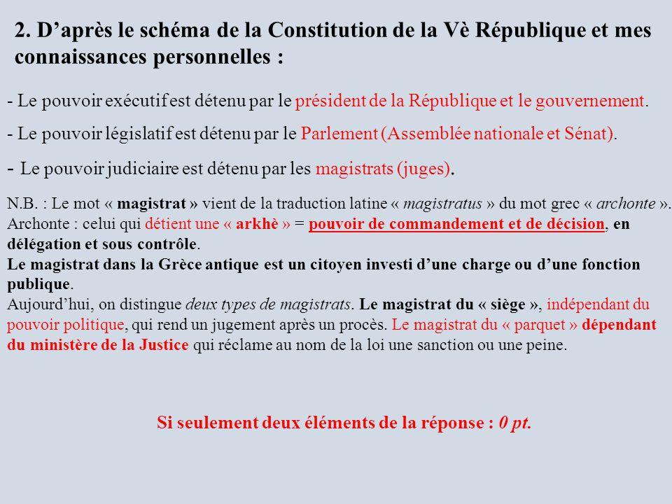 - Le pouvoir judiciaire est détenu par les magistrats (juges).