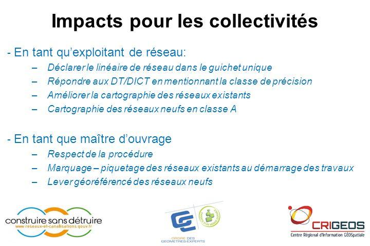 Impacts pour les collectivités