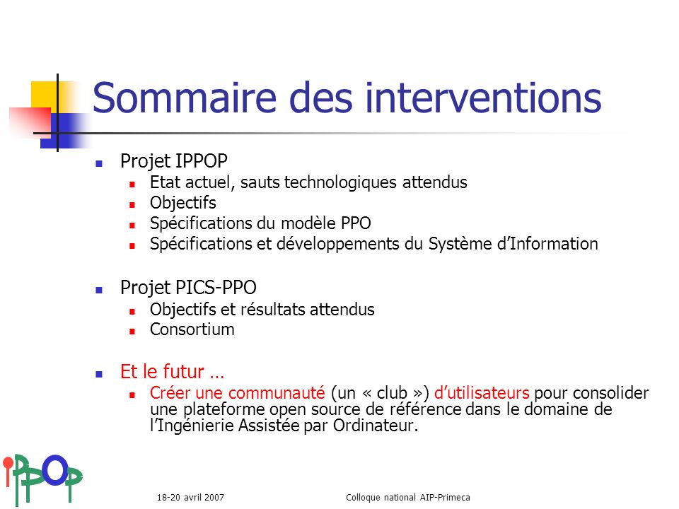 Sommaire des interventions