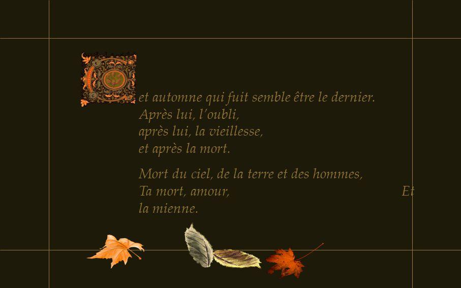 et automne qui fuit semble être le dernier
