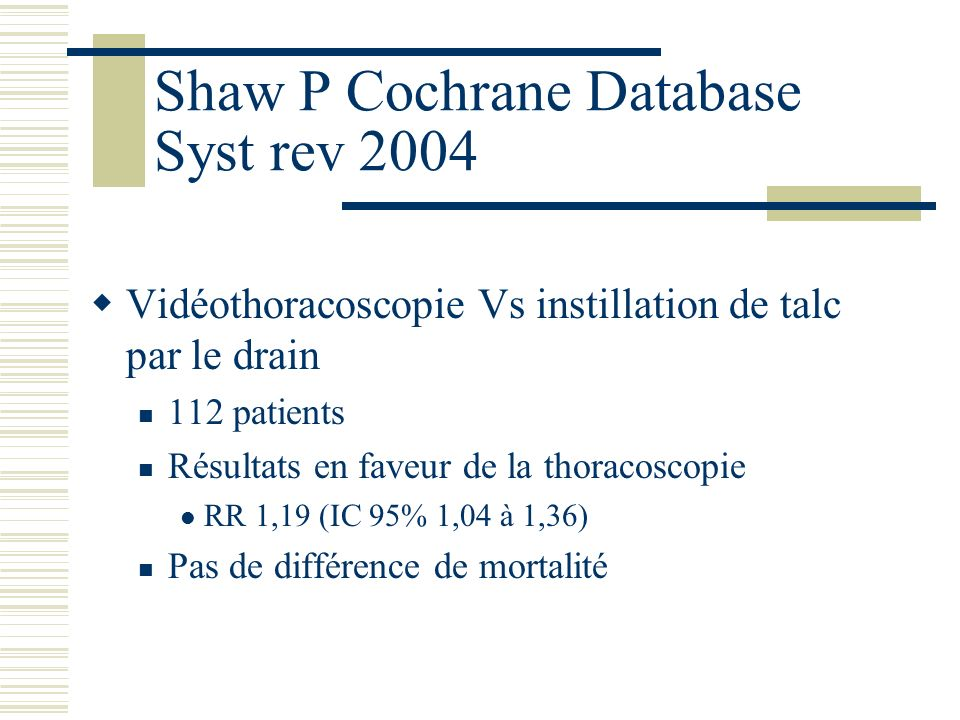 Shaw P Cochrane Database Syst rev 2004