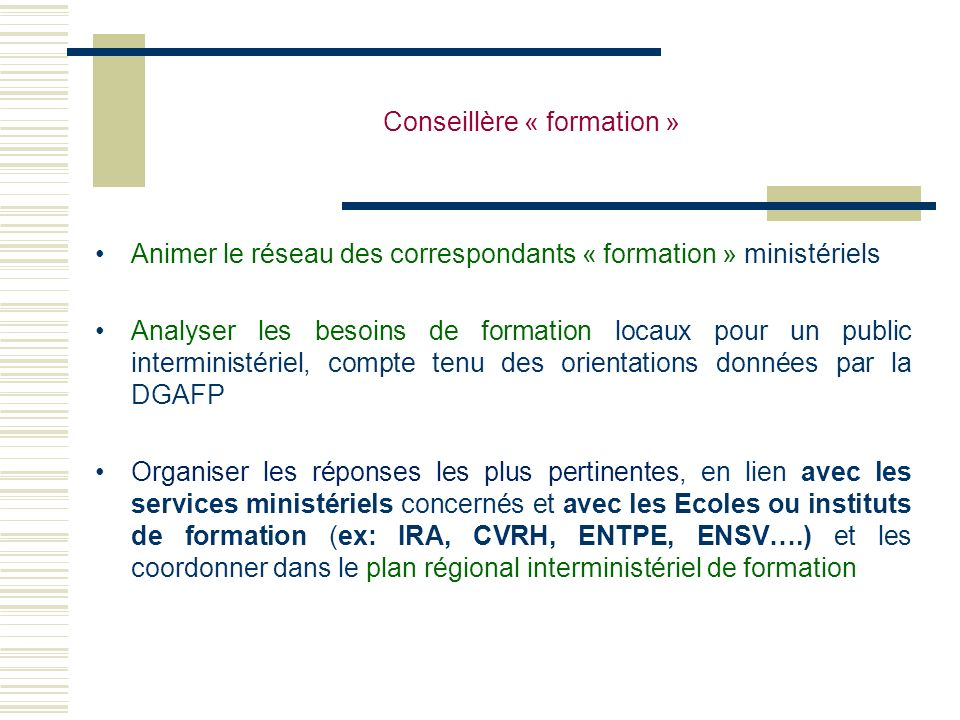 Conseillère « formation »