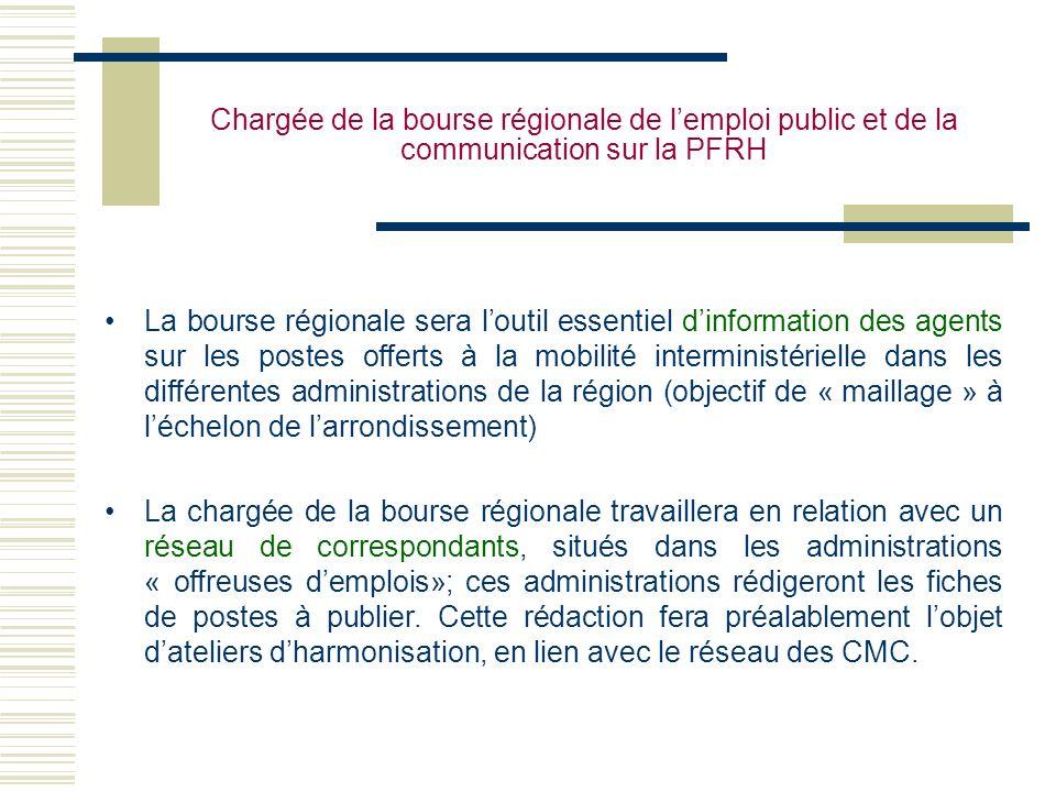 Chargée de la bourse régionale de l'emploi public et de la communication sur la PFRH
