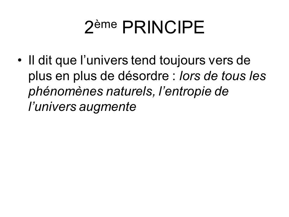 2ème PRINCIPE