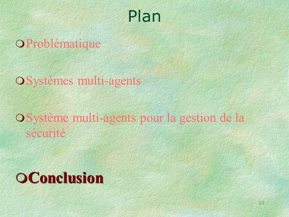 Plan Conclusion Problématique Systèmes multi-agents