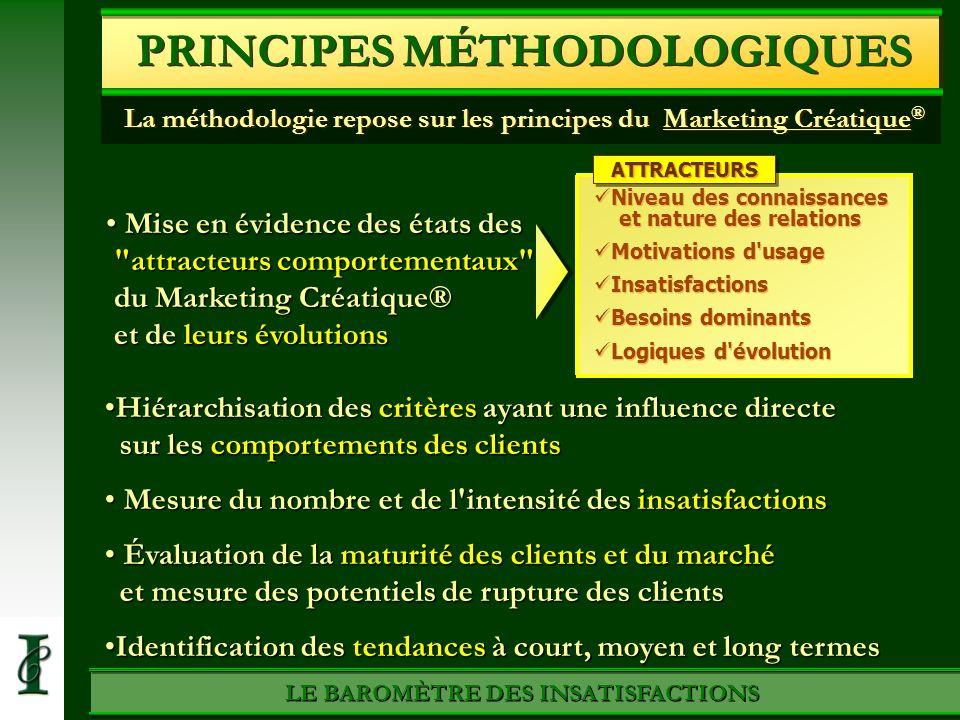PRINCIPES MÉTHODOLOGIQUES LE BAROMÈTRE DES INSATISFACTIONS