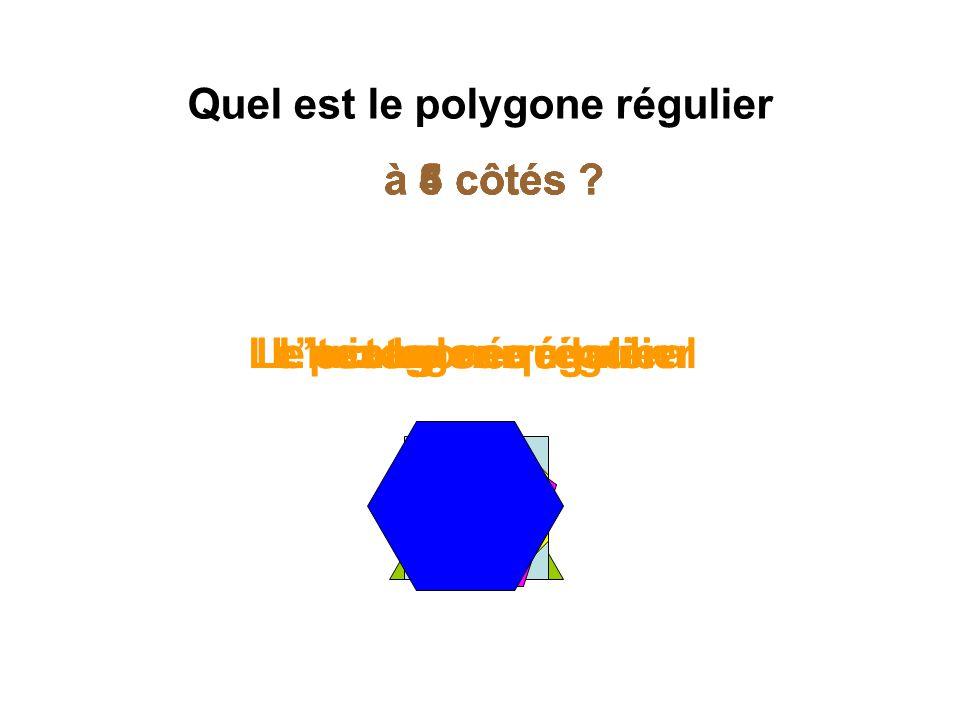Quel est le polygone régulier
