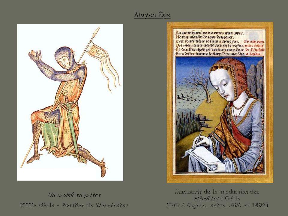 Moyen âge Manuscrit de la traduction des Héroïdes d'Ovide