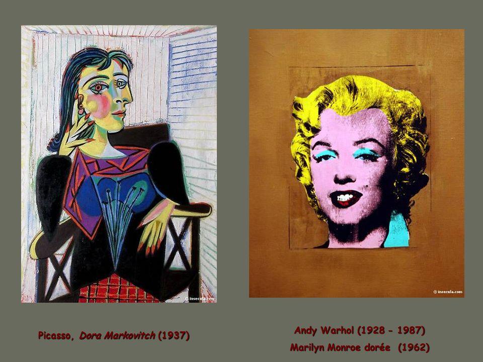 Marilyn Monroe dorée (1962) Picasso, Dora Markovitch (1937)