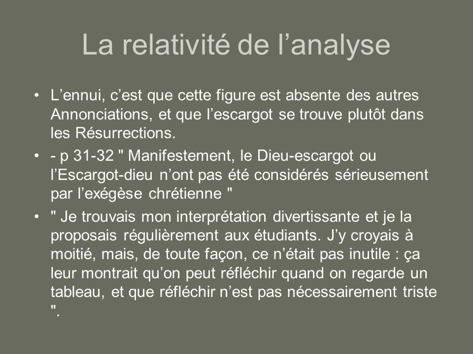La relativité de l'analyse