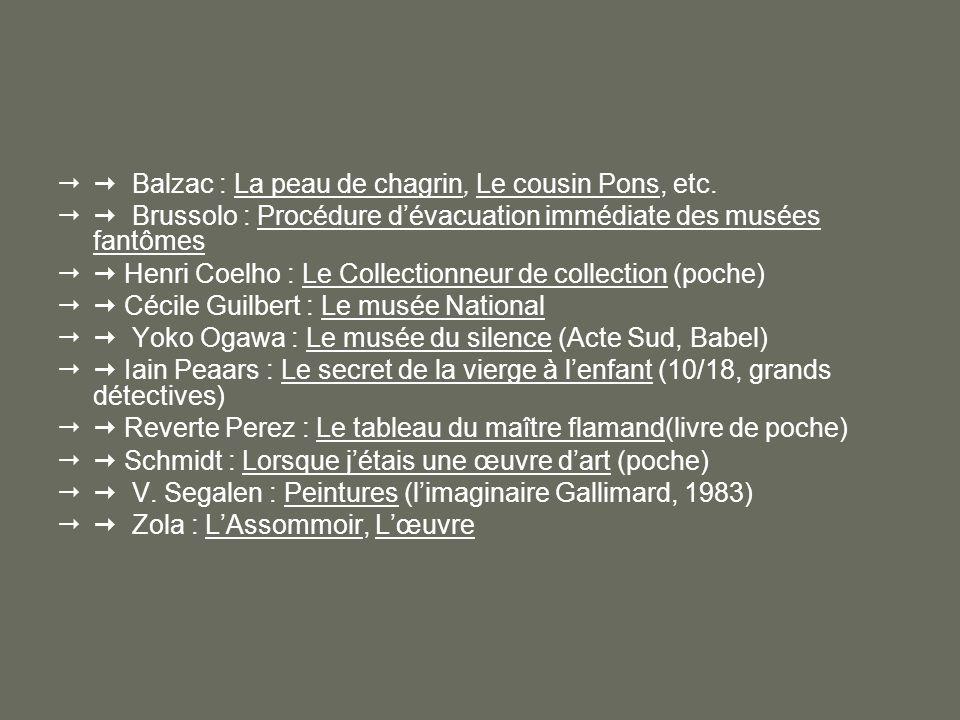  Balzac : La peau de chagrin, Le cousin Pons, etc.