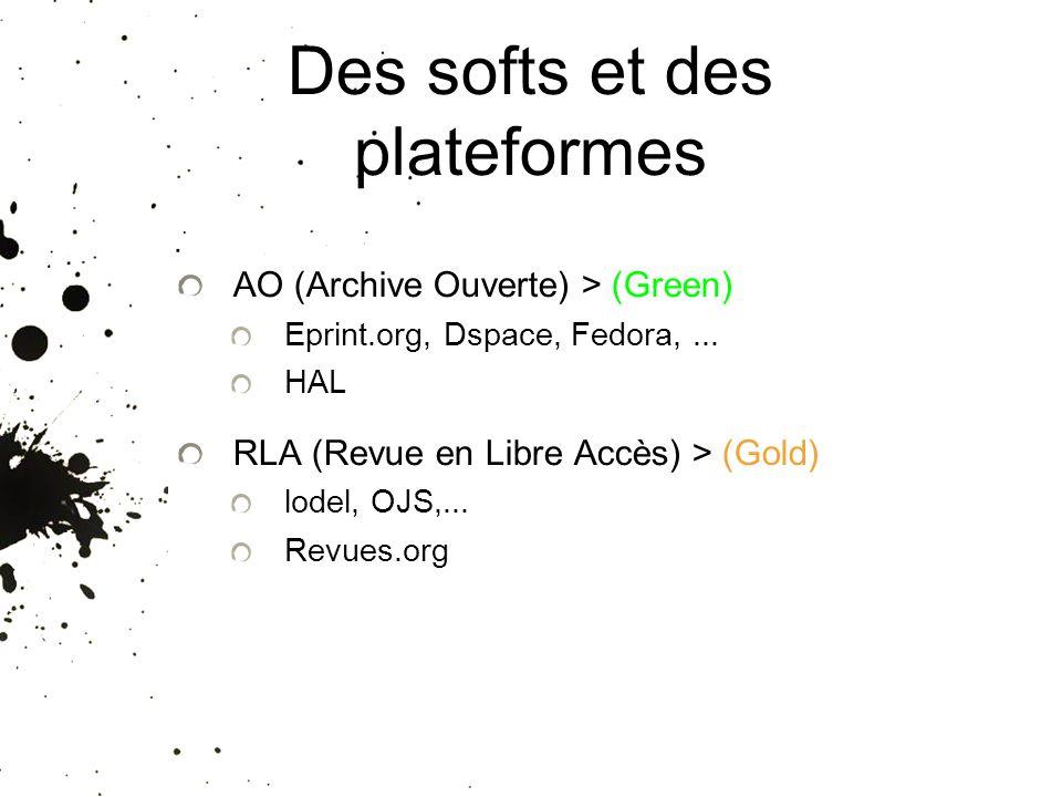 Des softs et des plateformes