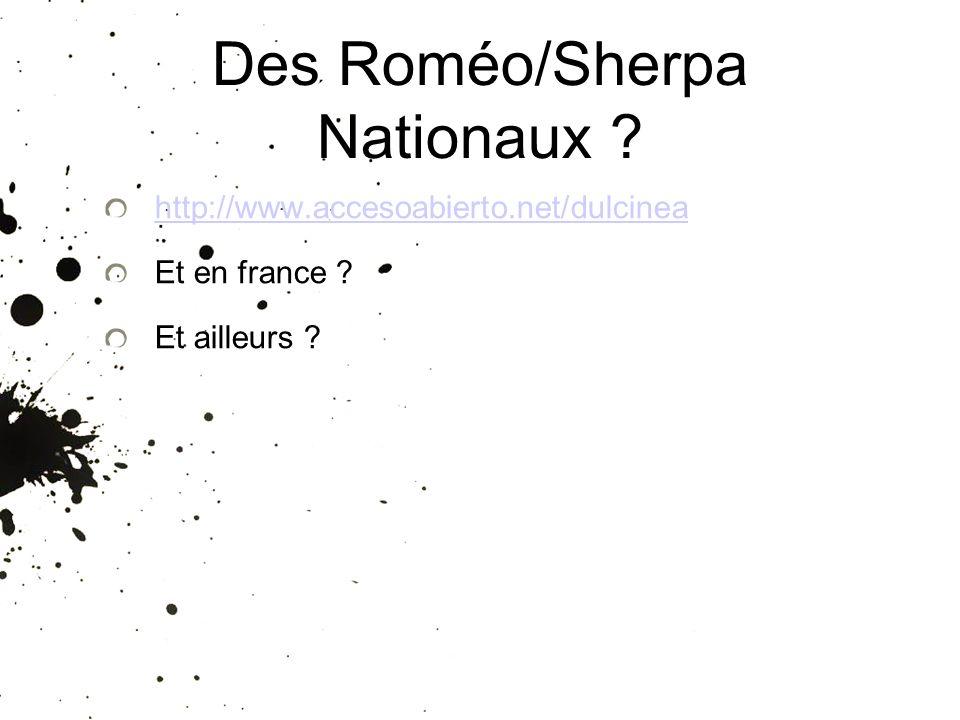 Des Roméo/Sherpa Nationaux