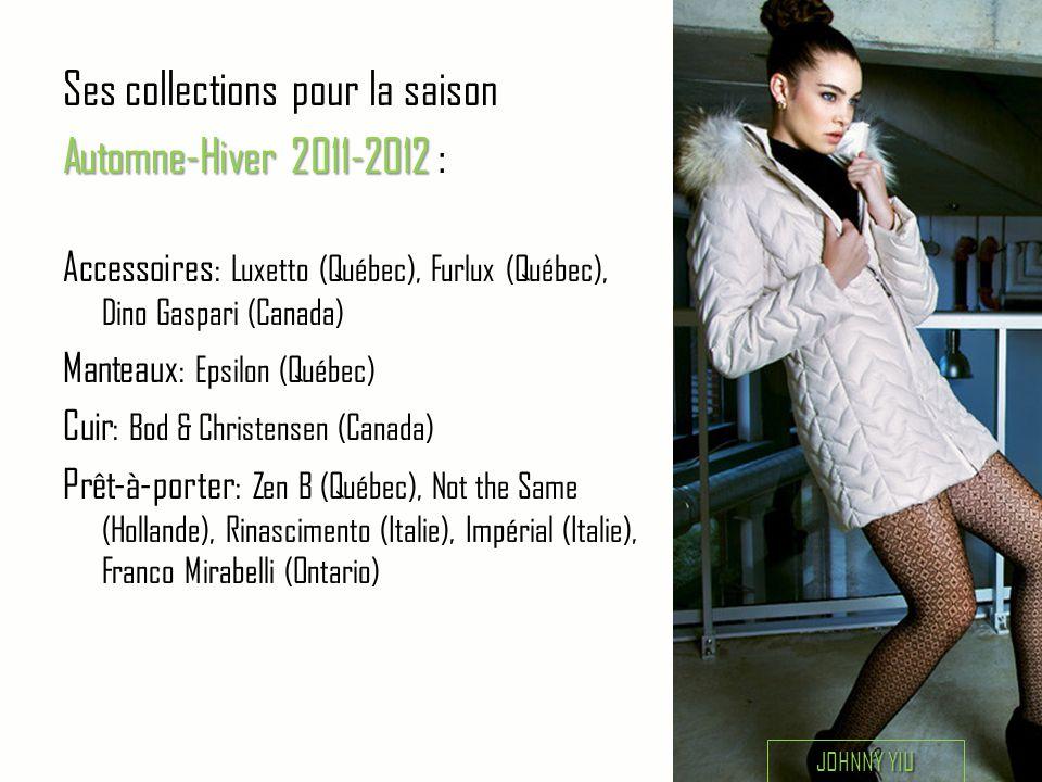 Ses collections pour la saison Automne-Hiver 2011-2012 :