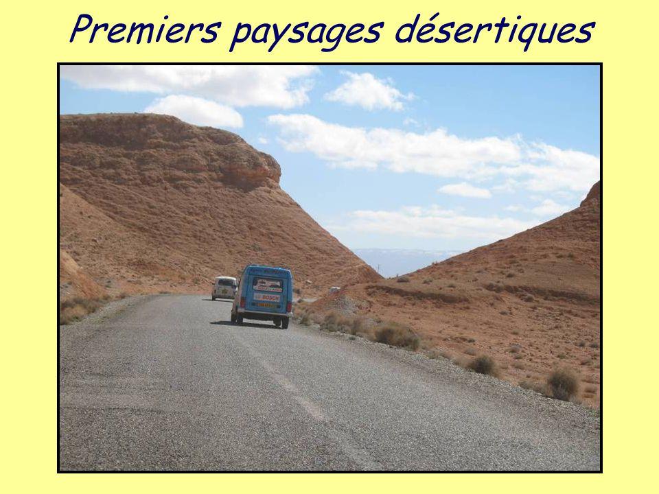 Premiers paysages désertiques