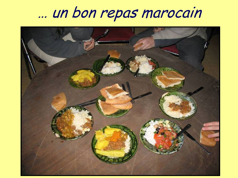 … un bon repas marocain