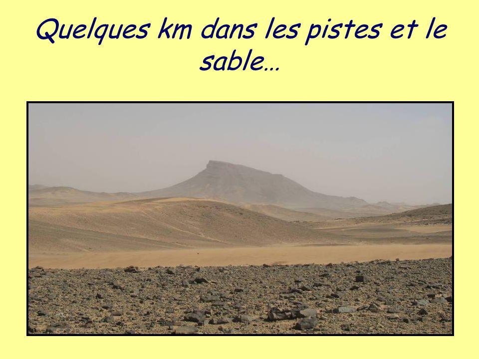 Quelques km dans les pistes et le sable…
