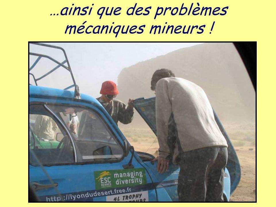 …ainsi que des problèmes mécaniques mineurs !