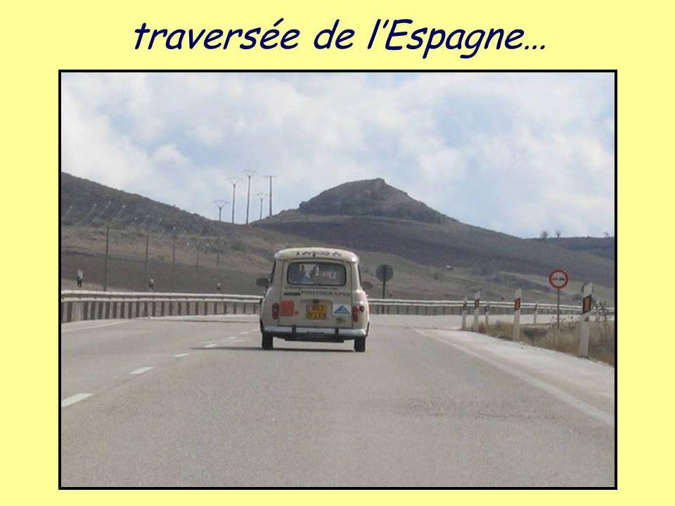 traversée de l'Espagne…