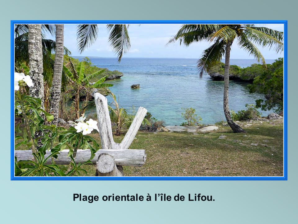 Plage orientale à l'île de Lifou.