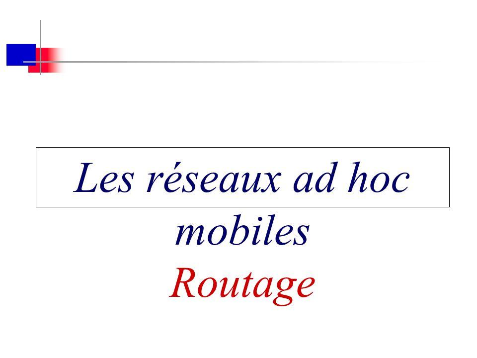Les réseaux ad hoc mobiles Routage