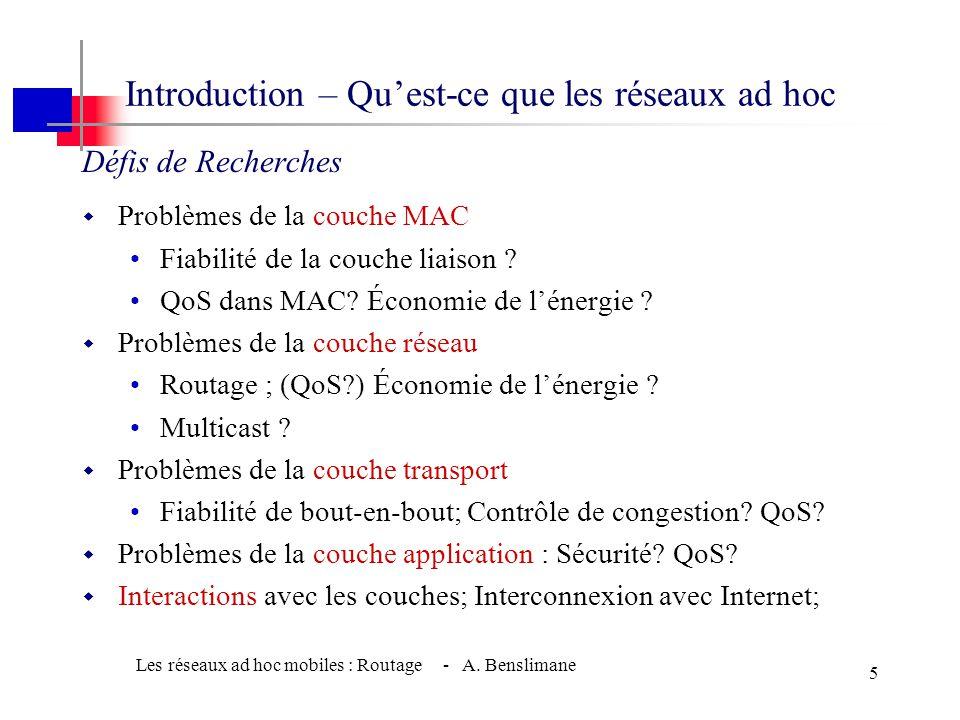 Introduction – Qu'est-ce que les réseaux ad hoc