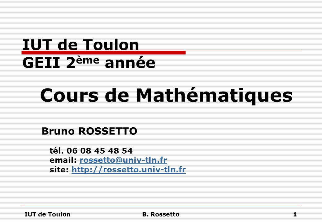 IUT de Toulon GEII 2ème année