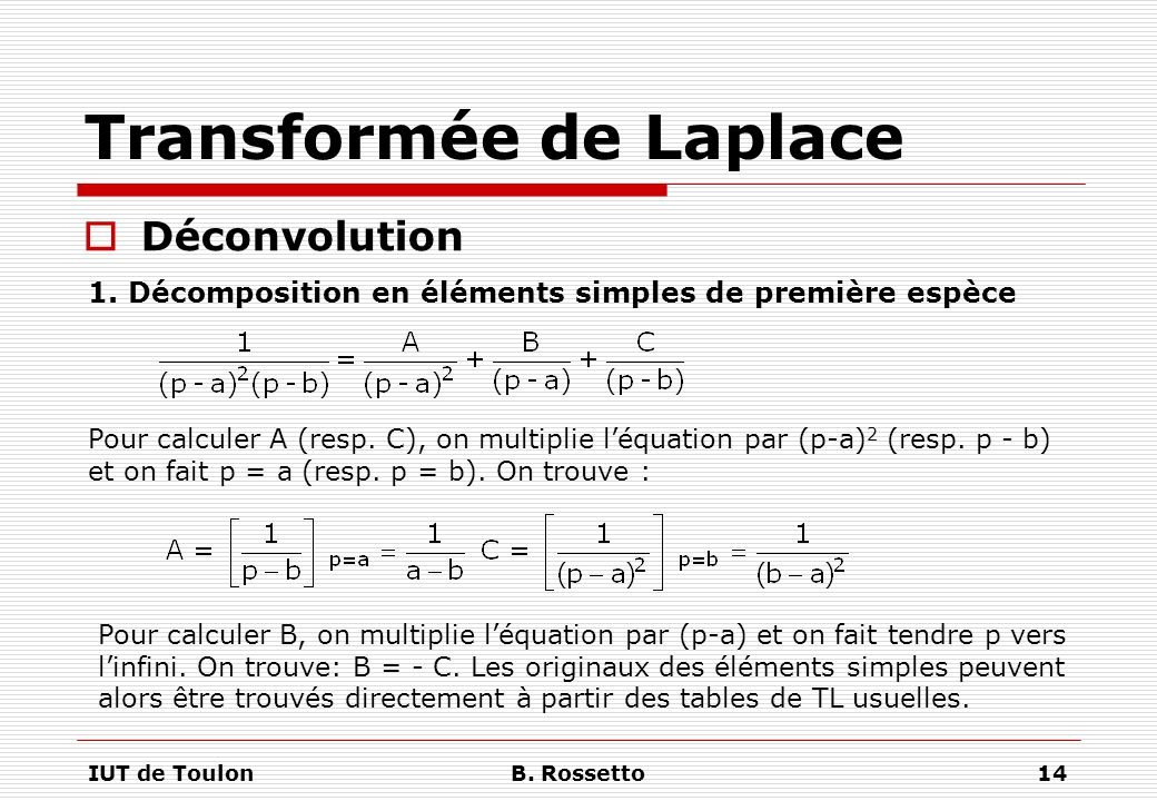Transformée de Laplace