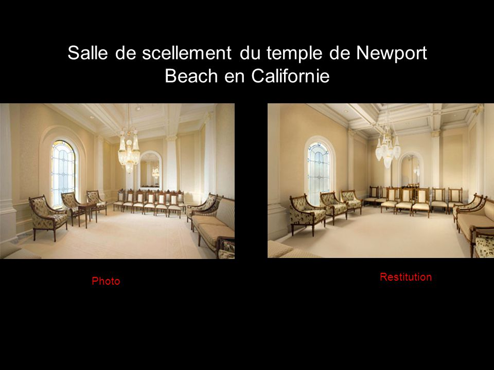 Salle de scellement du temple de Newport Beach en Californie