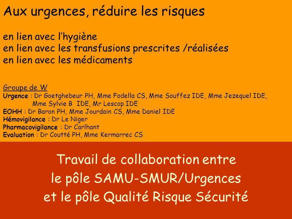 Travail de collaboration entre le pôle SAMU-SMUR/Urgences
