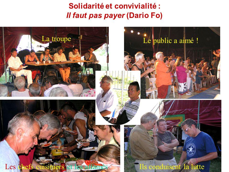 Solidarité et convivialité : Il faut pas payer (Dario Fo)