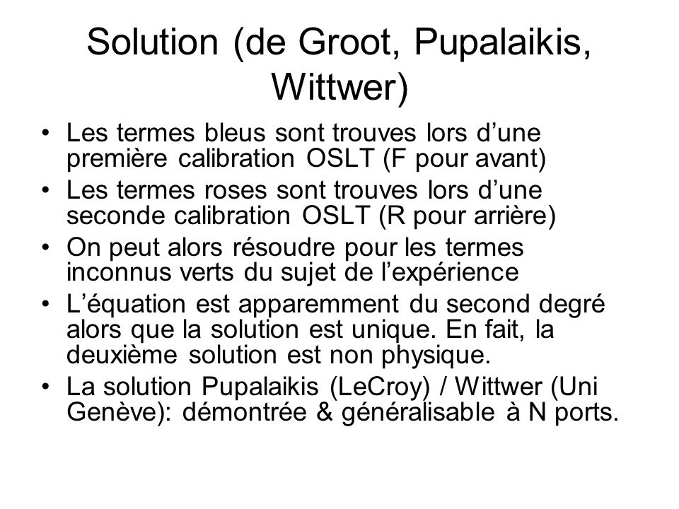 Solution (de Groot, Pupalaikis, Wittwer)