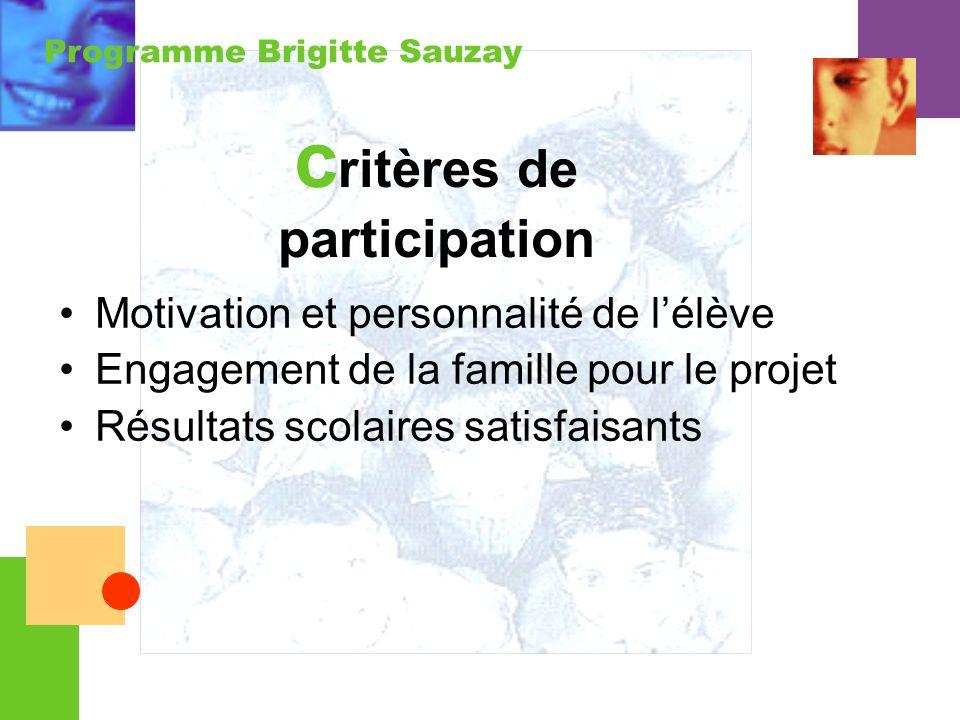 critères de participation