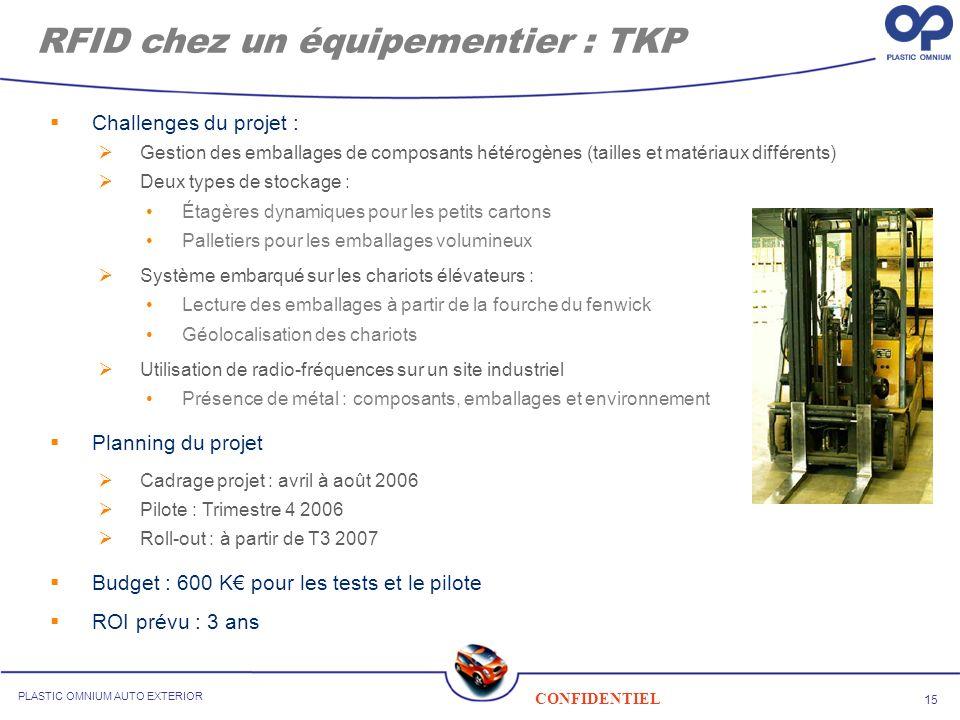 RFID chez un équipementier : TKP