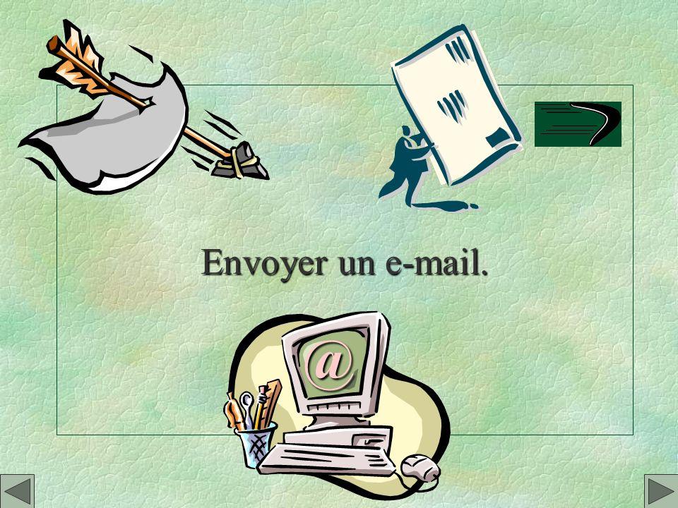 Envoyer un e-mail. @