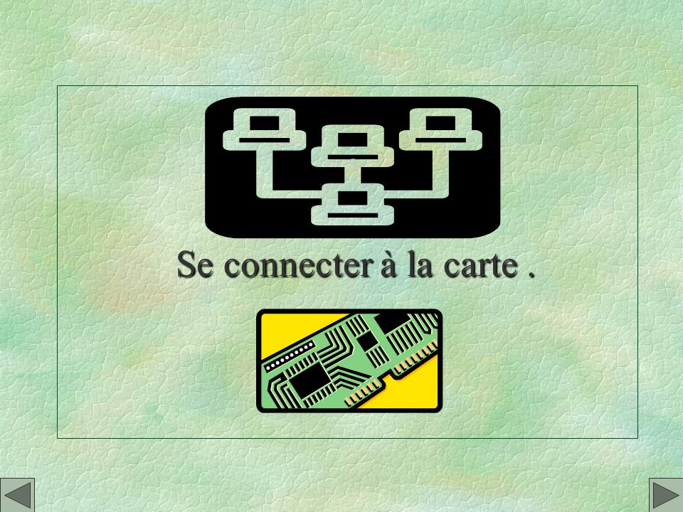Se connecter à la carte .