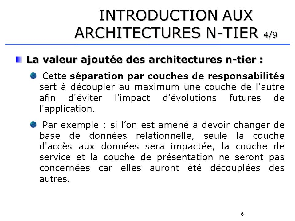 INTRODUCTION AUX ARCHITECTURES N-TIER 4/9