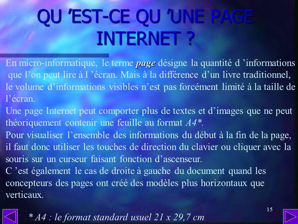 QU 'EST-CE QU 'UNE PAGE INTERNET