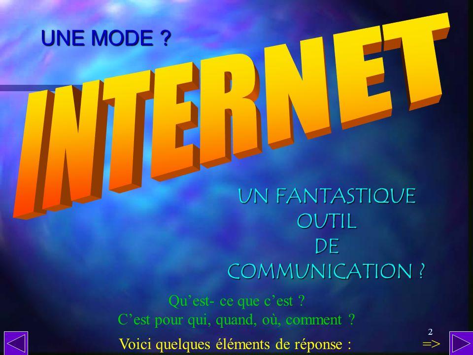 INTERNET UNE MODE UN FANTASTIQUE OUTIL DE COMMUNICATION