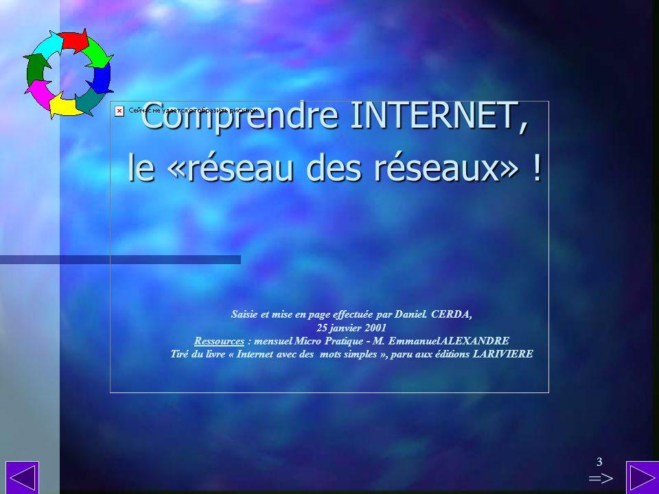 Comprendre INTERNET, le «réseau des réseaux» !