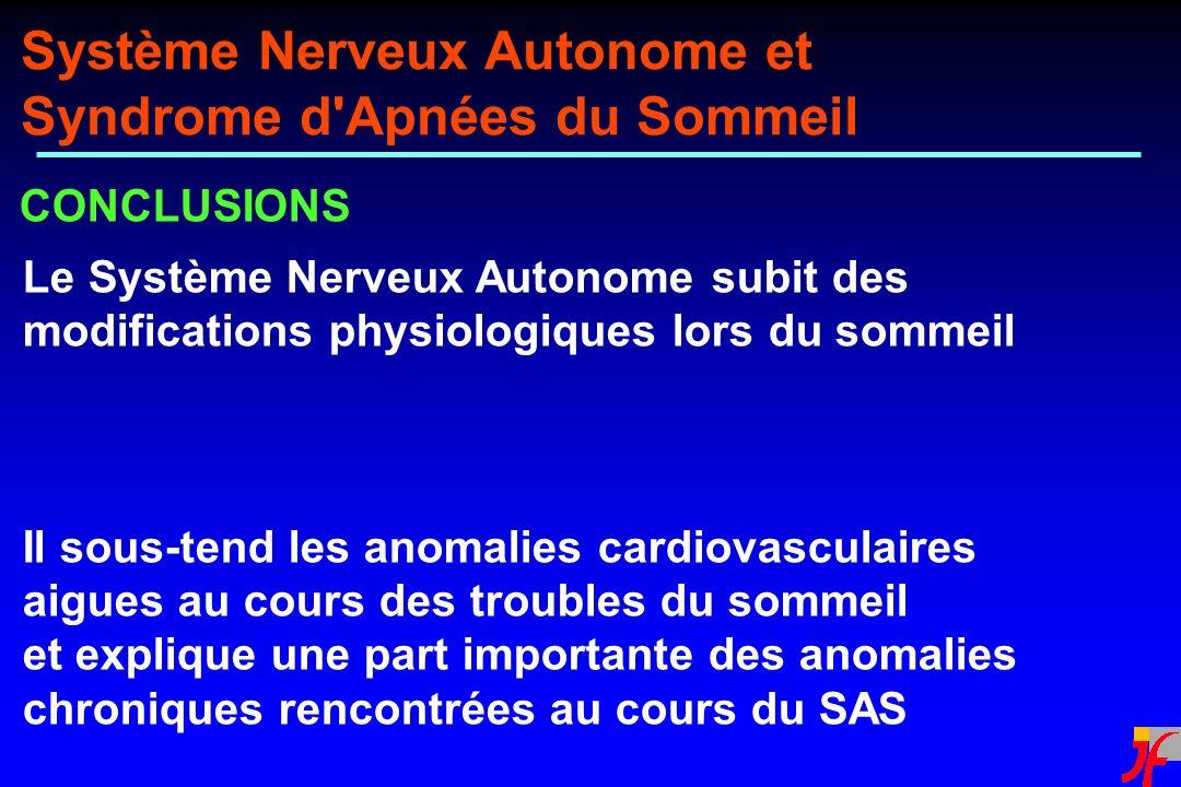 Système Nerveux Autonome et Syndrome d Apnées du Sommeil