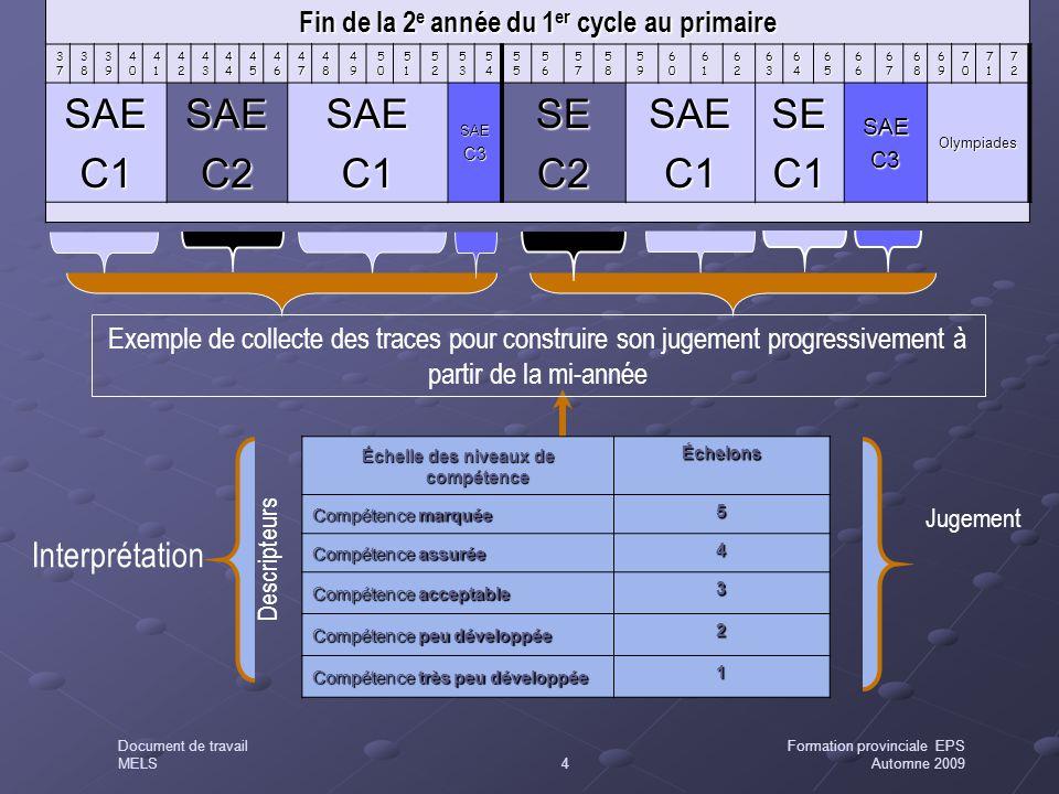 SAE C1 C2 SE Interprétation
