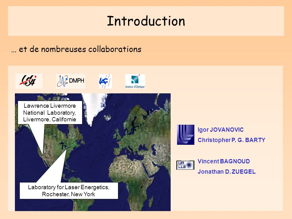 Introduction … et de nombreuses collaborations