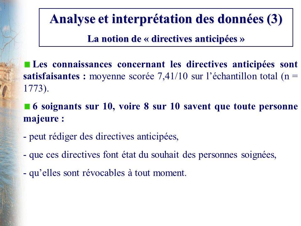 Analyse et interprétation des données (3)