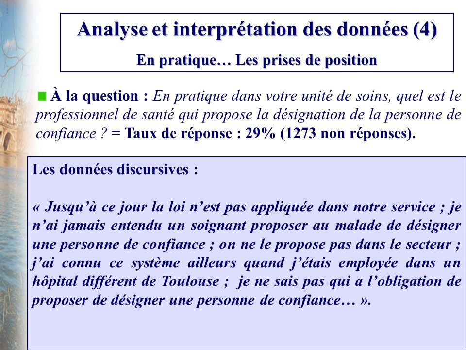 Analyse et interprétation des données (4)